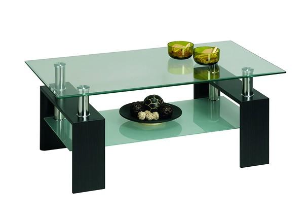 Tavolino modello New Cyber con piano in vetro.