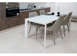 tavolo freedom bianco lucido vetro 160*85