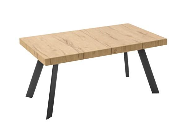 Tavolo Bold piedi p15 nero e piano p49w colore naturale