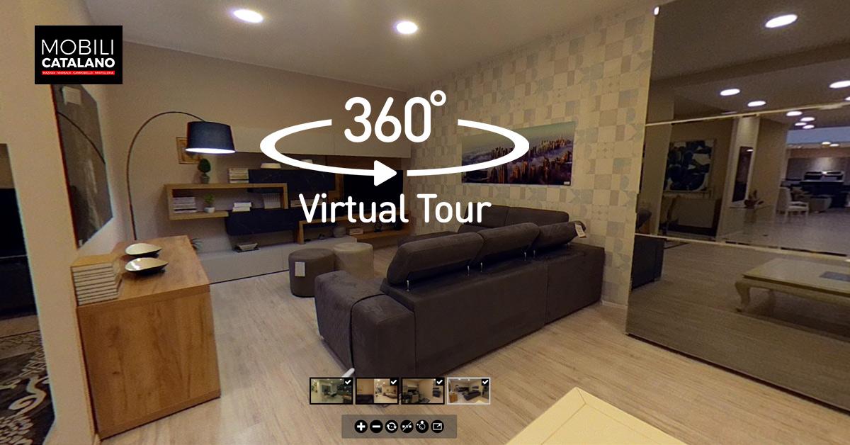 Tour virtuale zona giorno e camere
